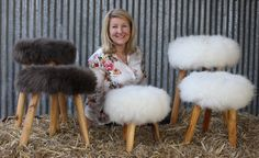 Welcome to the flock!  Clamber on a Dorset stool