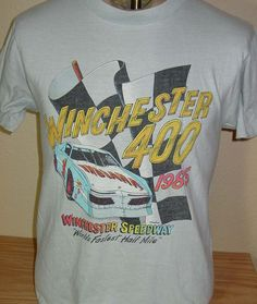 Vintage 1985 Winchester 400 NASCAR racing t shirt SOFT 50/50 by vintagerhino247 on Etsy