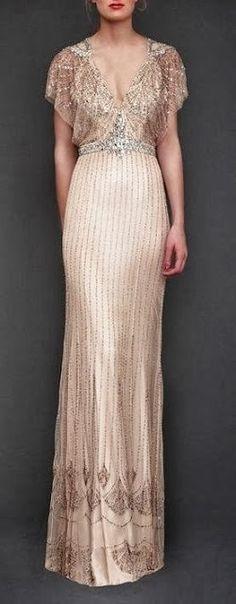 Just a pretty dress: Jenny Packham sequins cream dress