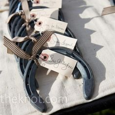 horseshoe table numbers for wedding or party favor for Derby Party! Horseshoe Table Numbers, Chic Wedding, Wedding Details, Wedding Rustic, Wedding Blog, Nautical Wedding, Wedding Table, Fall Wedding, Wedding Invatations