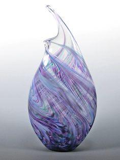 Cool Mix Wave Vase by Mark Rosenbaum - (Art Glass Vase) Blown Glass Art, Fused Glass Art, Stained Glass Art, Glass Artwork, Glass Wall Art, Window Glass, Glass Door, Glass Vessel, Glass Jug