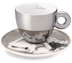 Holiday Gift Idea: Two-for-one for the art and espresso connoisseur Espresso Cups, Espresso Coffee, Coffee Cups, Mirror Cup, Holiday Gifts, Dinnerware, Great Gifts, Mugs, Tableware