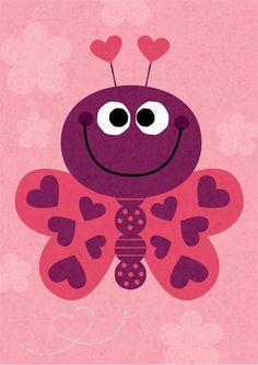 Gartner Greetings Valentine's Day Card Butterfly Love illustration by Steve Mack