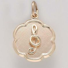 Music Charms Available in Sterling Silver or Gold. Treble Clef Charm $39