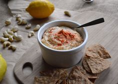 Cheezy hummus made with cashew cheese and smoked paprika! (gluten free, vegan)