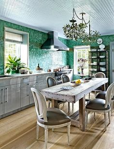 Stunning kitchen!! Those tiles are to die for. Love it to pieces.