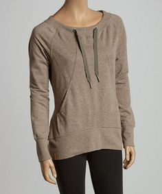 Love this Driftwood Heather Gina Boatneck Top by Lolë on #zulily! #zulilyfinds