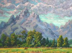 paintings of wyoming | ... Landscape Painting of Teton Mountains,Wyoming | ArtsyHome