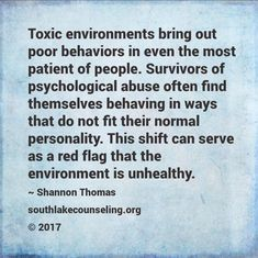 If you find that you do not feel like your healthy happy self in a negative toxic enviornment, heed this as a warning to remove yourself from this place asap. Its so true :( Narcissistic Mother, Narcissistic Sociopath, Narcissistic Personality Disorder, Verbal Abuse, Emotional Abuse, Emotional Stress, Emotional Intelligence, Environment Quotes, Abuse Quotes