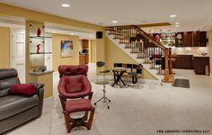 Wheaton lower level renovation contemporary basement