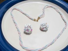 Vintage Glass beaded Necklace with matching by PaganCellarJewelry, $17.99