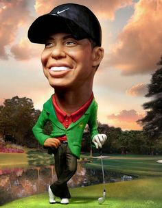 Caricatures Tiger Woods