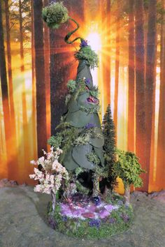 Fairy House, Purple Fairy Cottage, Woodland Fairies, Faerie, Forest Fairies