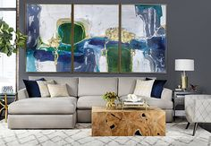 Azure Allure - Living Room - Room Ideas