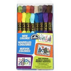 DMC Embroidery Floss Pack 8.7yd 16/Pkg-New Colors
