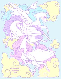 Pegasus sky by Zambicandy (via anipan.com)