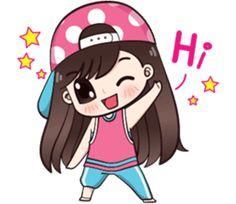 I like to wear polka dot dress.Let enjoy with my lovely stickers.