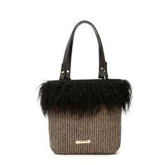 6fc4511d4 Borsa a spalla con bordo piume CafèNoir - Shoes, Bags and Accessories