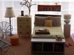 Look at this adorable miniature bedroom. Full sized or mini, I want.