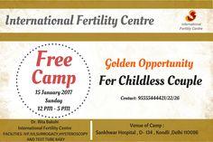 International Fertility Centre Organizing a Free Camp For Childless Couples #Fertility #FreeCamp #ChildessCouple