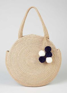 Round Textile Shoulder Bag by Kaleidoscope Holiday Fashion, Holiday Style, Beach Ready, You Bag, Straw Bag, Textiles, Beige, Shoulder Bag, Cute