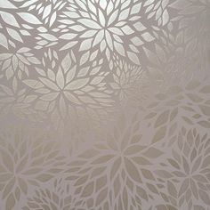 Petal Play Floral Damask Wall Stencil in metallic and matte tone on tone decorative wall finish for neutral stenciled walls - Royal Design Studio flower pattern stencils