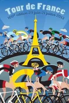 2013 Tour de France poster....reépinglé par Maurie Daboux .•*`*•. ❥