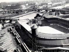 Polo Grounds and Yankee Stadium together.