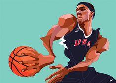 World Basketball Festival: Illustrations by Saiman Chow | Inspiration Grid | Design Inspiration