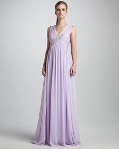 Sleeveless Embroidered Gown by Notte by Marchesa at Neiman Marcus.