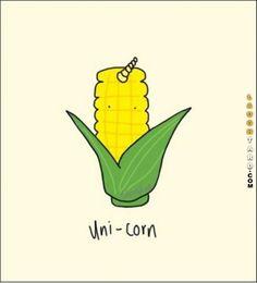 Uni-Corn #lol #laughtard #lmao #funnypics #funnypictures #humor #corn #unicorn