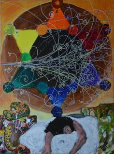 Color wheel of my dreams (daydreams,scene 2) (tryptych), bachmors artist