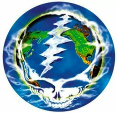 Steal your earth ~ stealie ~ grateful dead Grateful Dead Image, Grateful Dead Poster, Dead And Company, Psychedelic Music, Lion Art, Forever Grateful, Good Ol, Music Love, Best Part Of Me