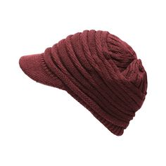 753d1151eec The Hat Depot Knit Visor (Bugundy)  The Hat Depot knit visor hat is perfect  accessory to complete you outfit. It is great for many occasions and the ...