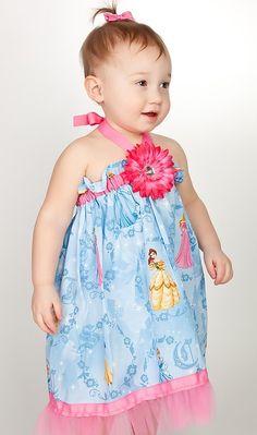 Girls Disney Princess pillowcase dress in by MountainViewBoutique, $24.00