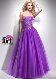 Such a gorgeous color purple! - Flirt by Maggie Sottero P4744 Purple Ball Gown on Sale