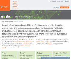 Joyent Production Practices is a great tutorial site for node.js