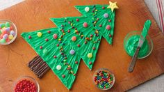 Meet the new DIY: decorate-it-yourself cookies! These tree-shaped cookies take the fun of decorating to a whole new level with just five ingredients and a few easy steps.
