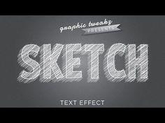 Illustrator Tutorial | Pencil Sketch Text Effect Logo Design - YouTube