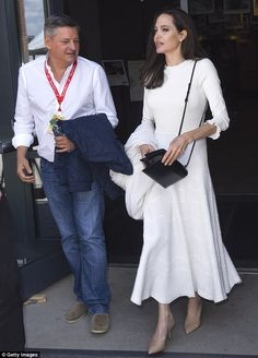 Promoting her work: On Saturday, Angelina Jolie, 42, attended the Telluride Film Festival in Colorado to debut her based-on-a-true-story drama, First They Killed My Father