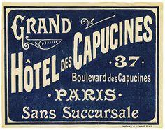Francia - Parigi - Hotel des Capucines