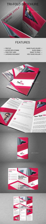 Tri-Fold Brochure Template PSD. Download here: https://graphicriver.net/item/trifold-brochure/17129806?ref=ksioks