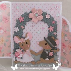 Tineke's kaartenhoekje: Liefde en geluk - bloghop DDBD Marianne Design Cards, Wedding Cards Handmade, Place Names, Paper Crafting, Making Ideas, Projects To Try, Card Making, Geluk, Frame