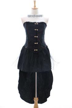 jl-552 S/M/ L/XL/XXL Stretch Velvet Victorian Gothic Lolita Dress Cosplay #KawaiiStory