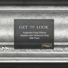 Glamorous style isn't just for Hollywood! Get the look with Argentine Pearl Effects stippled over two coats of Driftwood Gray Milk Paint. Mirror Painting, Painting Tips, House Painting, Painting Techniques, Faux Painting, Silver Painted Furniture, Chalk Paint Furniture, Paint Stain, Paint Finishes