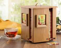 Amazon.com: Bamboo Display Tea Box with 4 Compartments and Lid, Beautiful Wooden Tea Organizer Holds 160 Herbal Tea Bags, 100% Natural Bamboo. By: Bambüsi: Kitchen & Dining