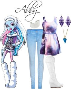 """""""Abby from Monster High"""" by prosopography on Polyvore"""