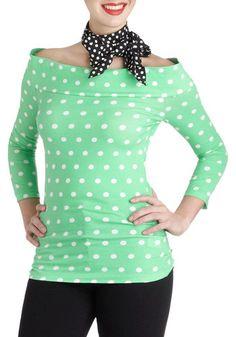 Cafe Parfait Top in Mint Dots, #ModCloth