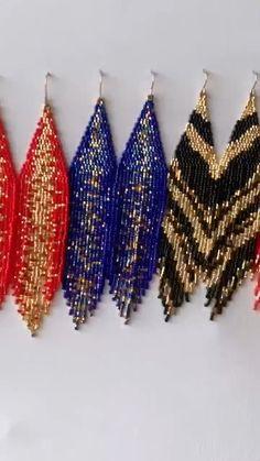 Long Green Fringe beaded earrings Native American Bohemian bead earrings Modern African beadwork chandalier earrings St Patrick/'s Day