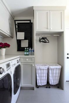 Small laundry room. Cute.
